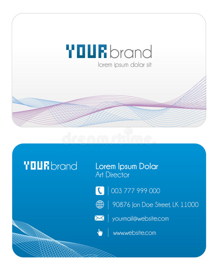 Business Card | Blue stock illustration
