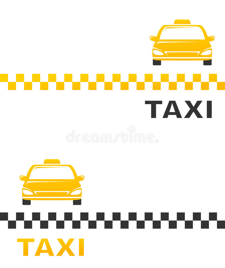 Business card with cab. And taxi sign royalty free illustration