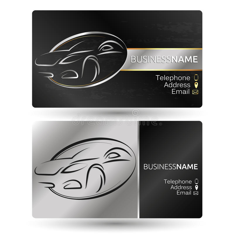 Business Card For The Car Company Stock Vector - Illustration of ...