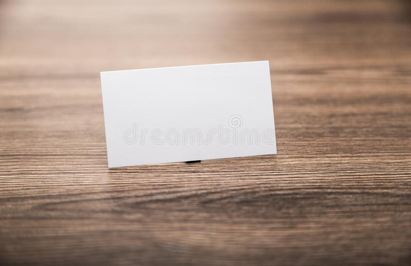 Blank corporate identity package business card on stock photos