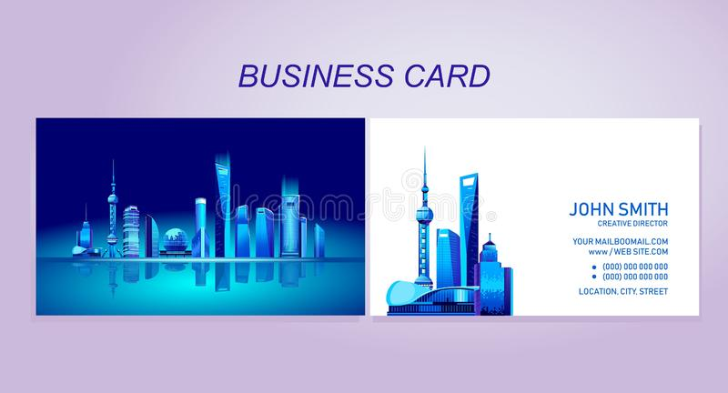 Business card city stock illustration