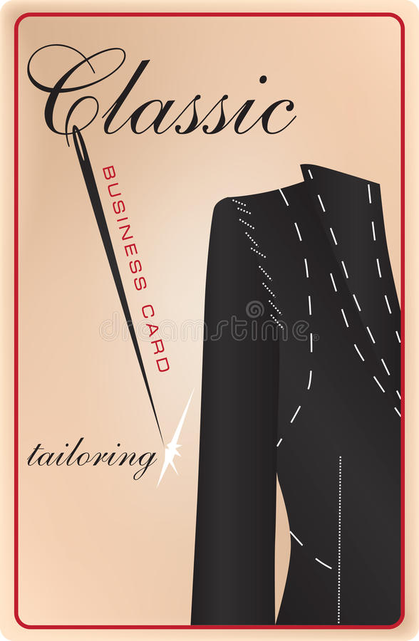 Business Card Classic Tailoring Stock Vector