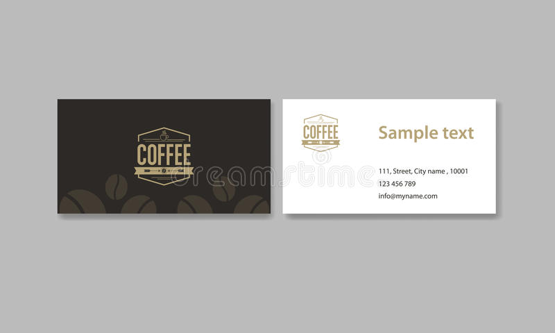 Business card for coffee shop and restaurant and coffee logo stock download business card for coffee shop and restaurant and coffee logo stock vector illustration of reheart Gallery