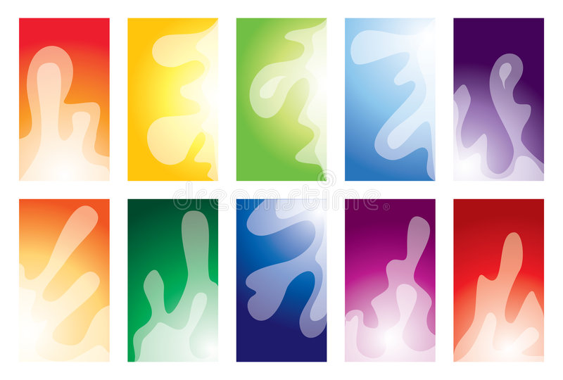 Business card collection stock illustration