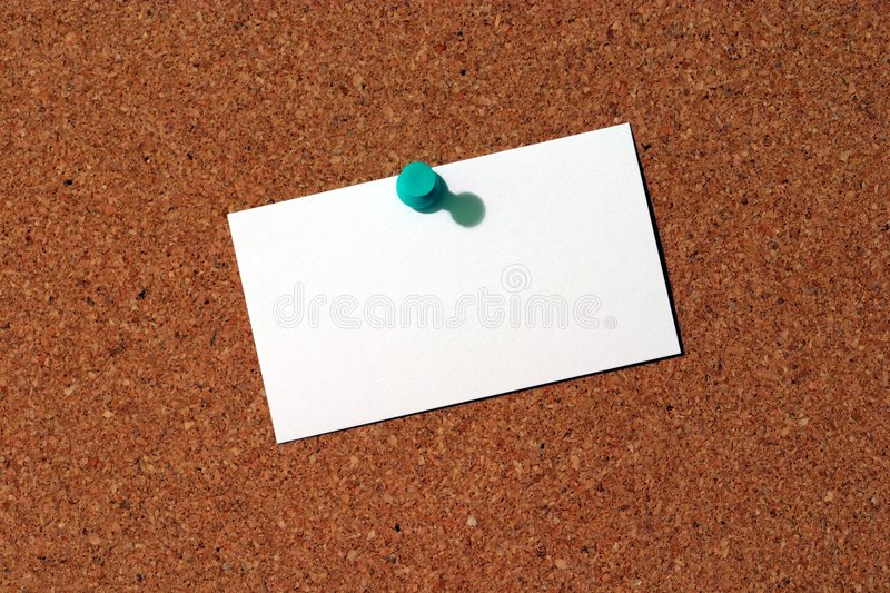 Business Card on Corkboard royalty free stock images