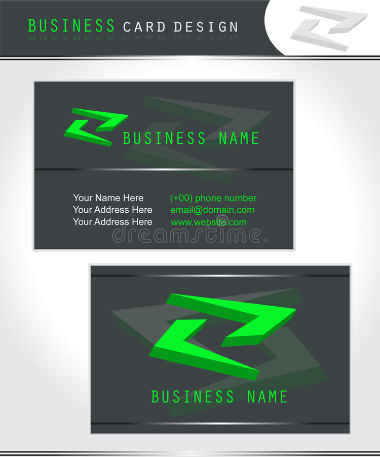 Business card design stock photography