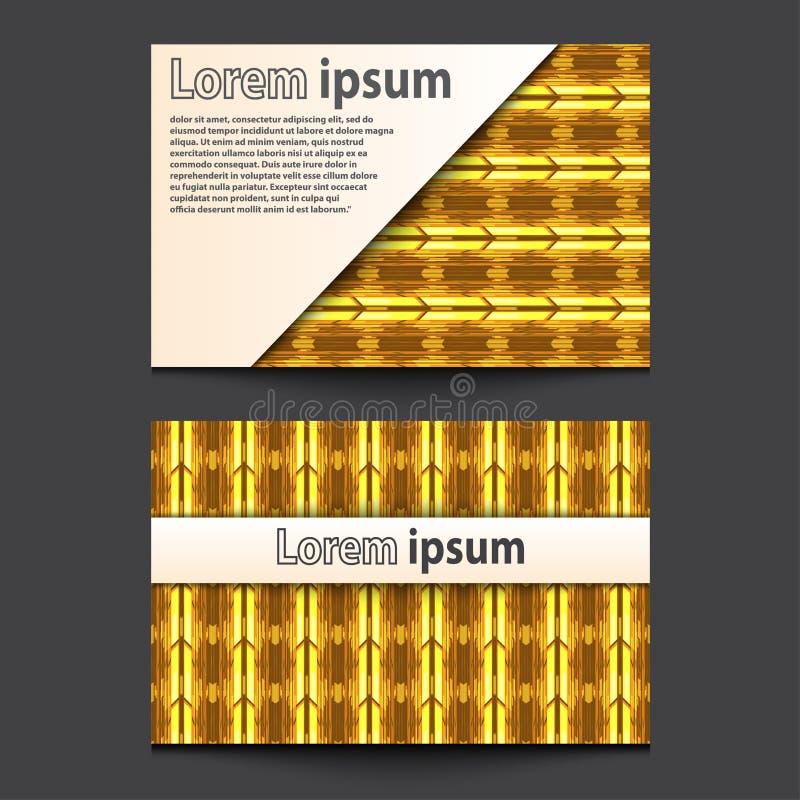 Business Card Design Neon gold. 3d arrow wave line abstract background. Eps 10. Vector illustration vector illustration