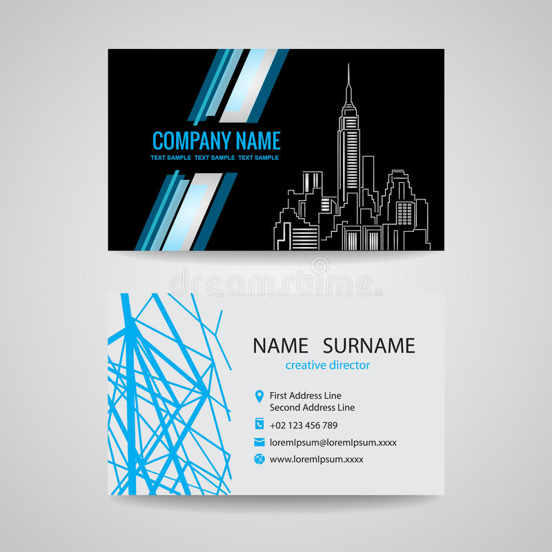 Business Card Design For About Structure Building Stock Vector ...
