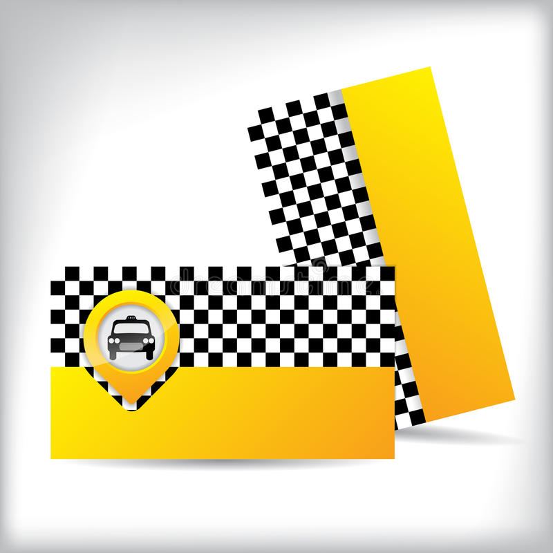 Business Card Design For Taxi Companies Stock Vector - Illustration ...