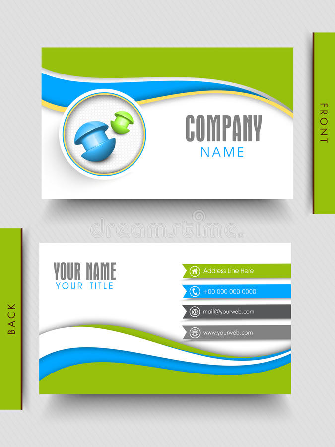 Business Card Design For Your Company. Stock Illustration ...