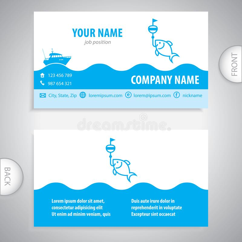 Nice fishing business cards illustration business card ideas business card fishing lures nautical symbol stock illustration reheart Gallery