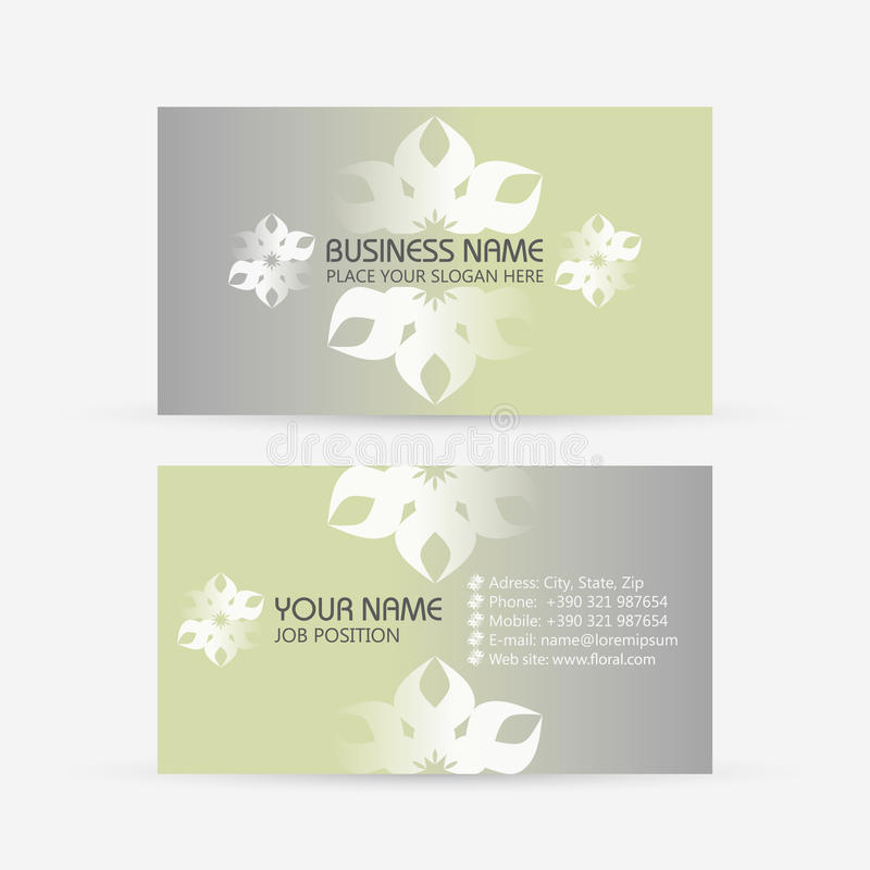 Business card. Floral royalty free illustration