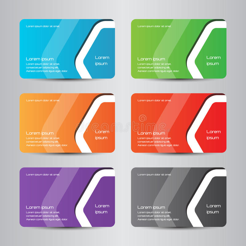Business Card Full Color Modern Bussines Card Stock Vector ...