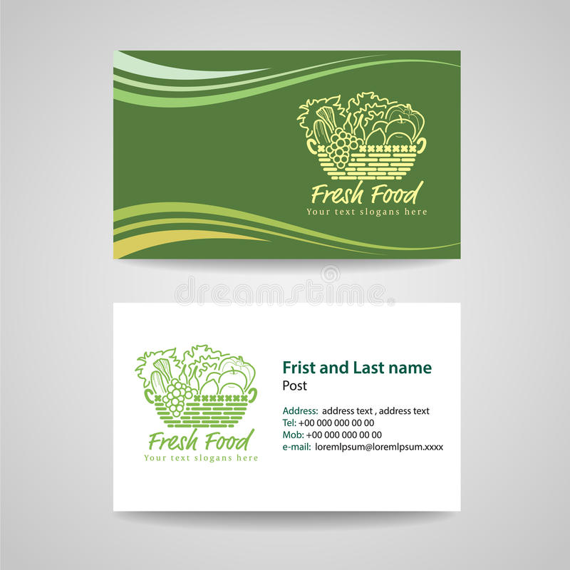 Business Card Green Background Stock Vector - Illustration of ...
