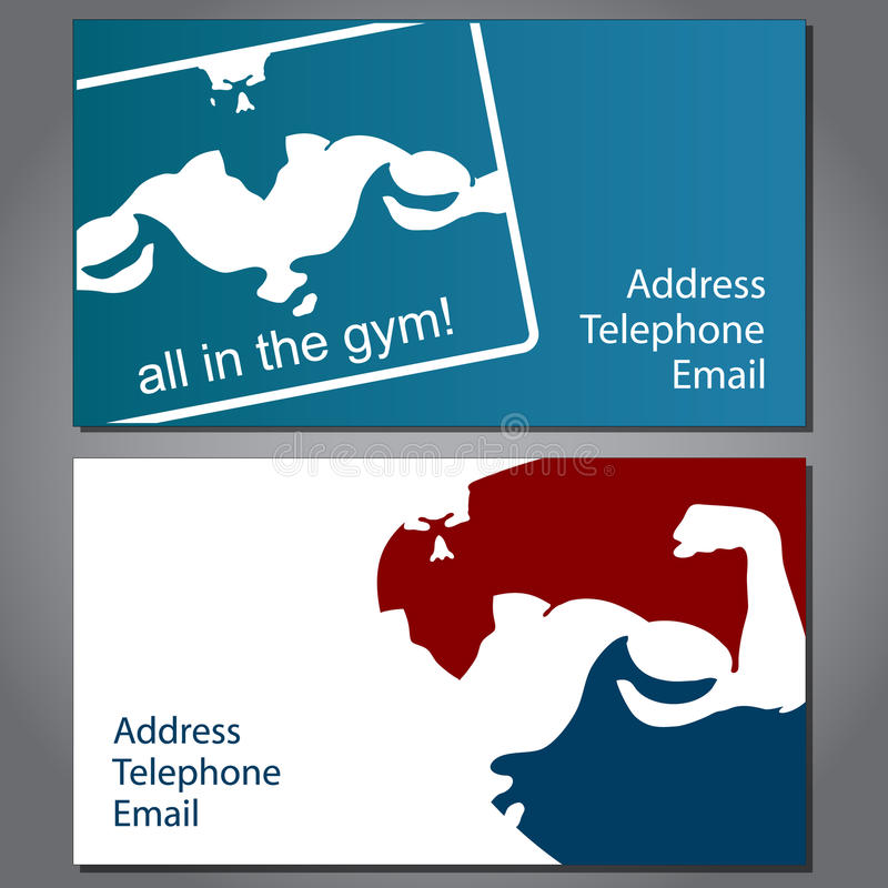 Business card for gym stock vector. Illustration of fitness - 39398730