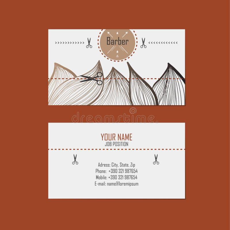 Business Card Hairdresser (barber) Stock Vector - Illustration of ...