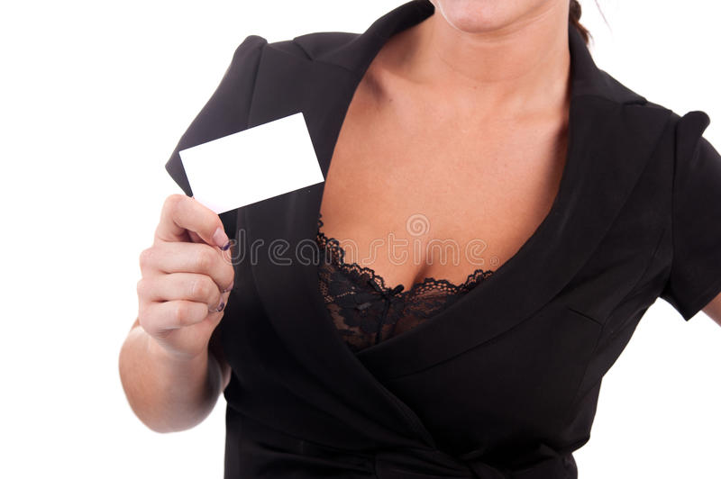 Download Business Card In The Hands Of A Girl Stock Photo - Image: 24182152