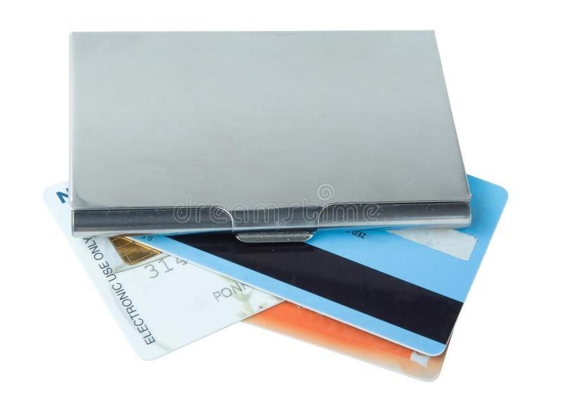 Business card holder case royalty free stock photo