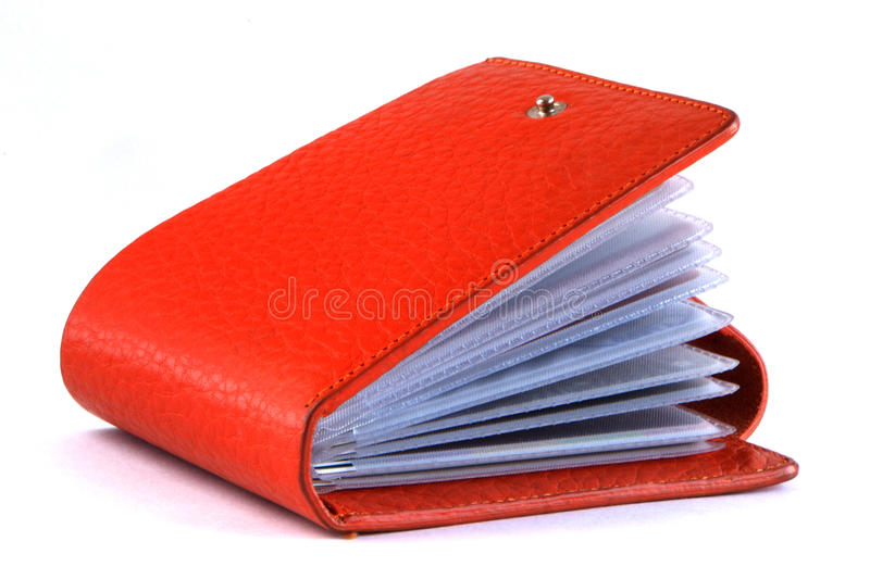 Business card holder isolated on white background royalty free stock photo