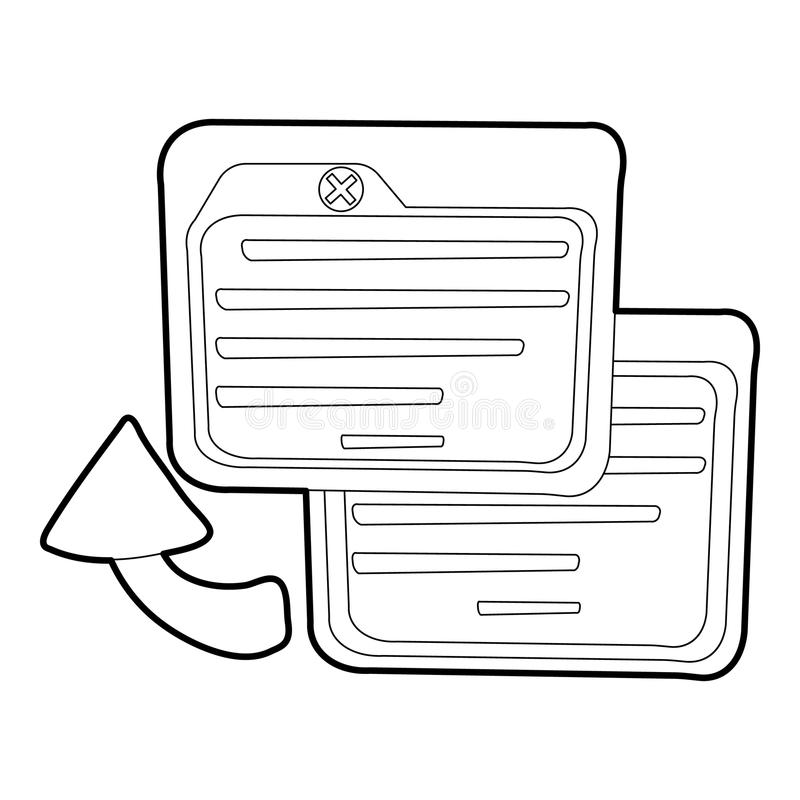Business card icon, outline style royalty free illustration