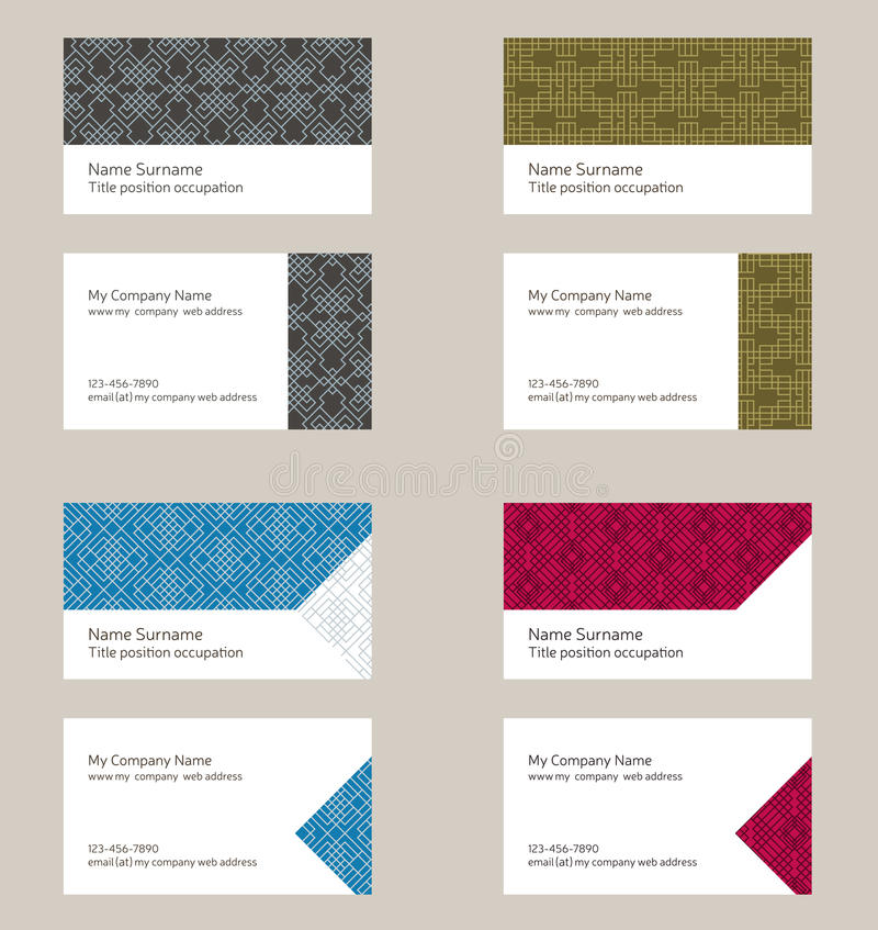 Business Card Layout. Linear Geometric Pattern. Editable Design ...