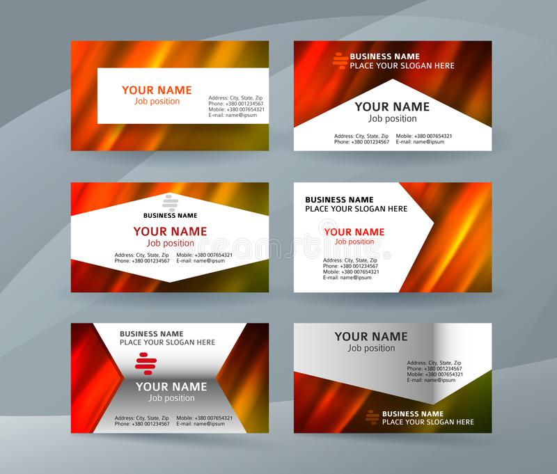 Business card layout template set26 stock illustration