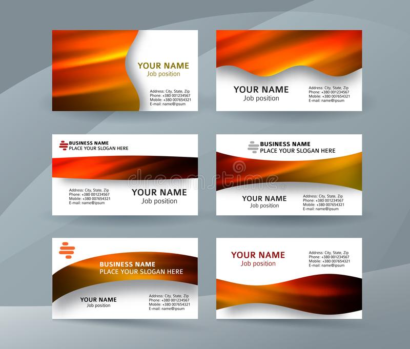 Business card layout template set29 royalty free illustration