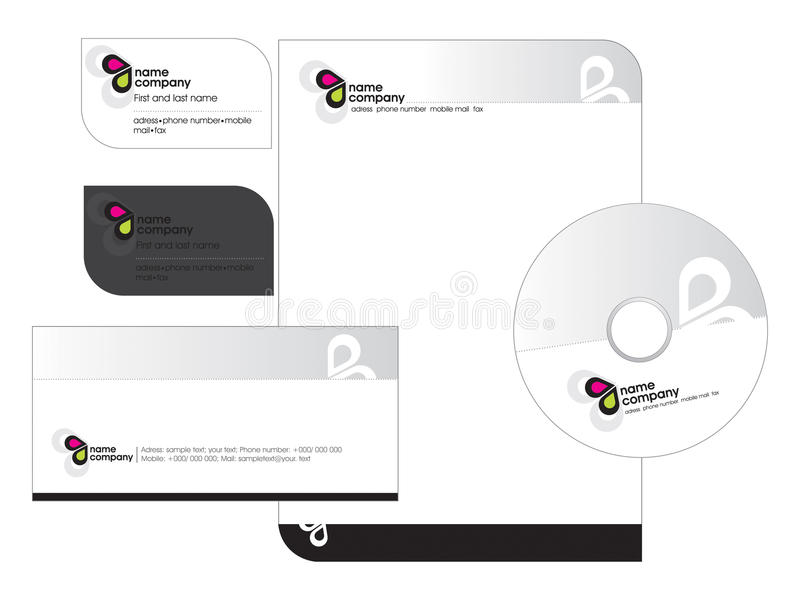 Business card - Letterhead template stock image