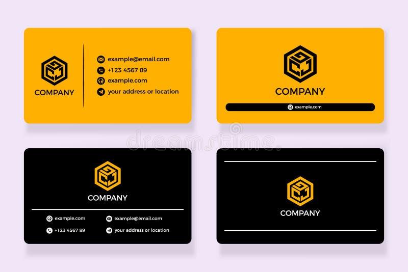 Business card logo company vector stock photography