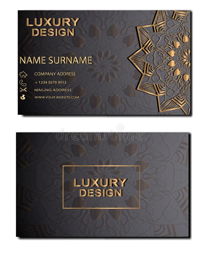 Business card luxury stock illustration