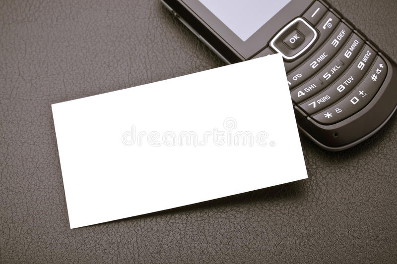 Business Card And Mobile Stock Images
