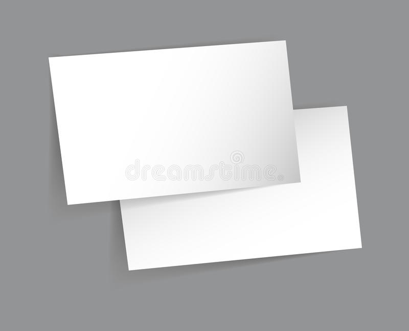Business Card Mock Up Design vector illustration