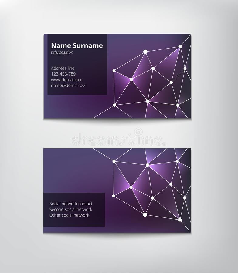 Download Business card stock vector. Image of business, network - 41874218