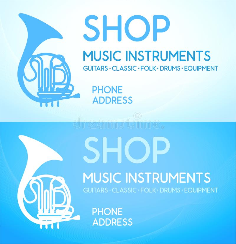 Download Business Card For Music Shop Stock Vector