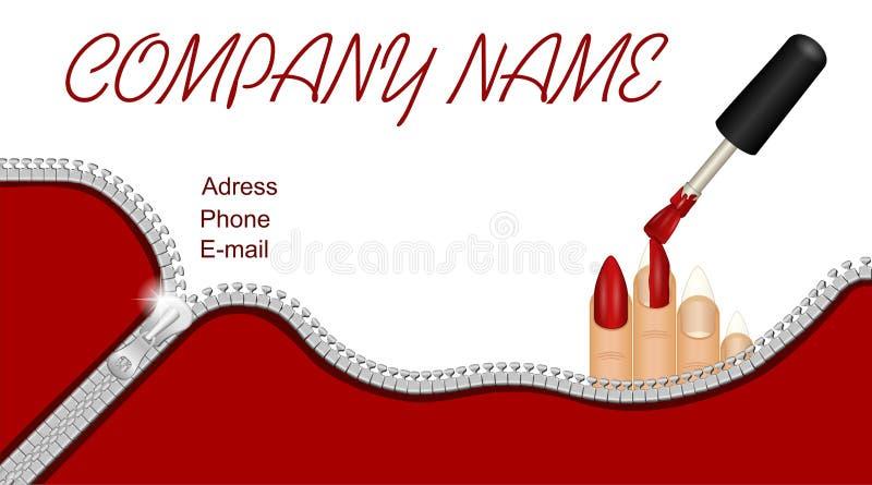 nail salon business cards