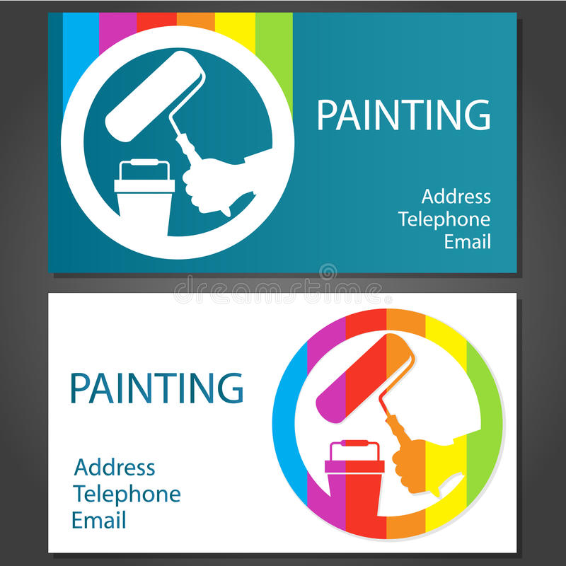 Download Business card for painting stock illustration. Illustration of cards - 39305583