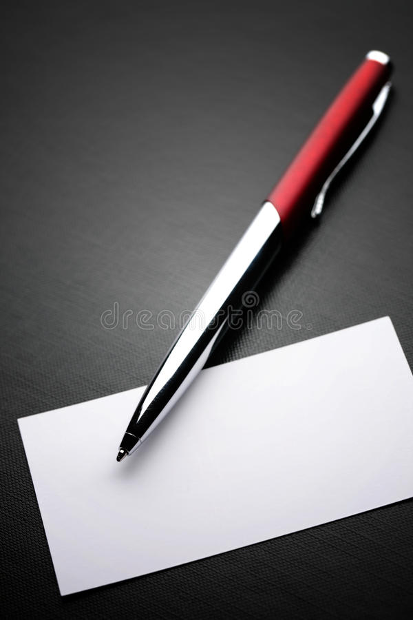 Business Card and Pen royalty free stock photography