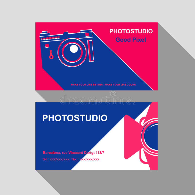 Business card photostudio royalty free stock image