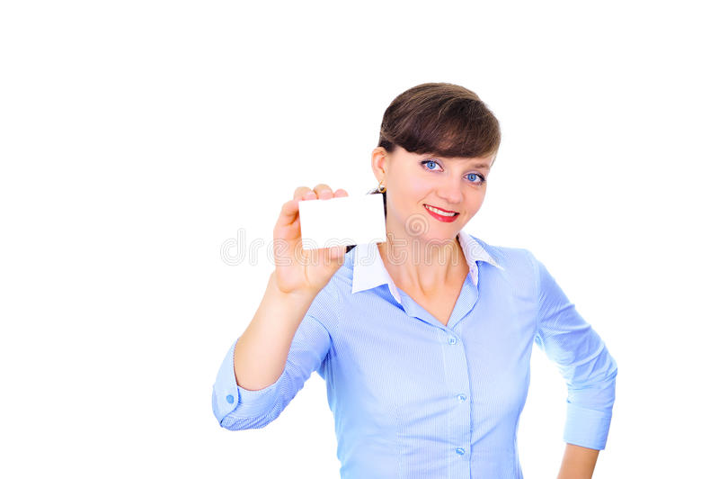 Download Business card presentation stock image. Image of girl - 18353541