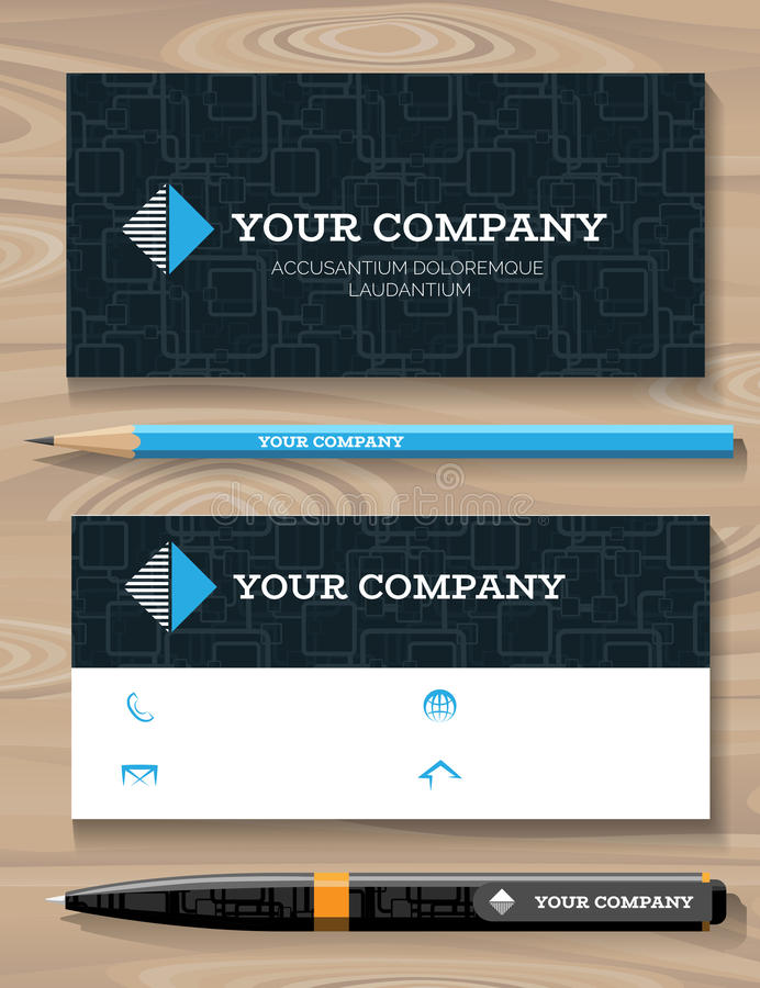 Business Card and Promotional Gift Template stock illustration
