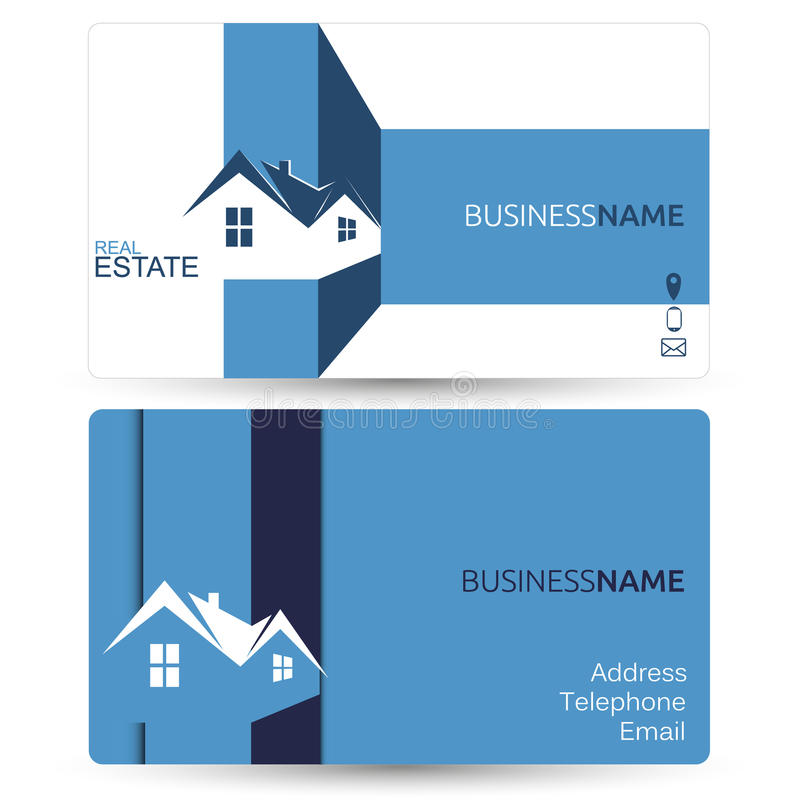 Business Card For Real Estate Stock Vector - Illustration: 62815511