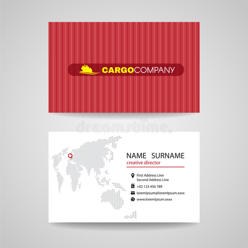 Business card red container vector background for cargo or shipping download business card red container vector background for cargo or shipping company stock vector illustration colourmoves