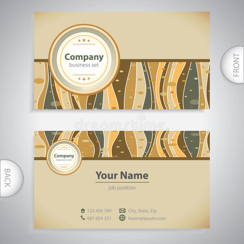 Business Card - Retro Antique Template Stock Illustration ...