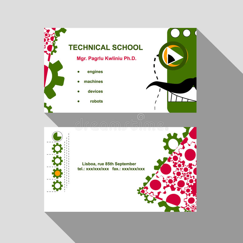 Business card robot stock image