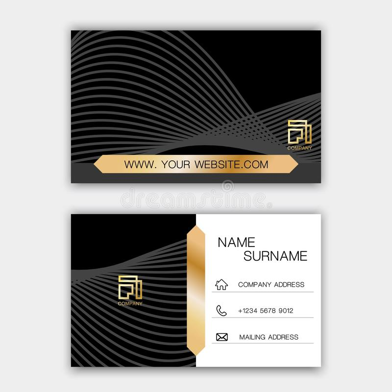 Luxurious business card design. With inspiration from abstract royalty free illustration