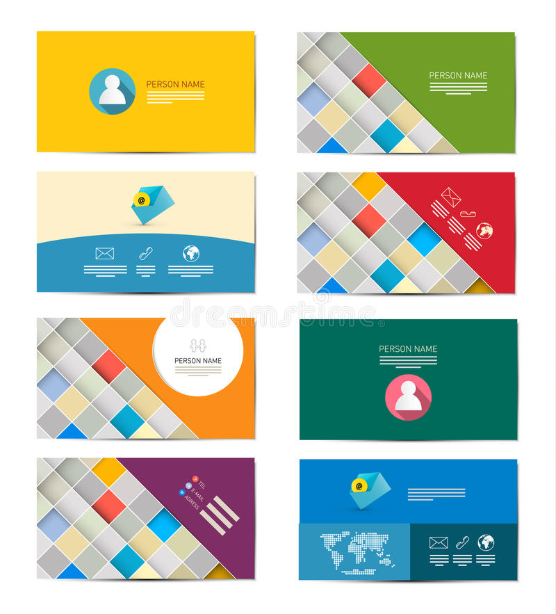 Business Card Set royalty free illustration
