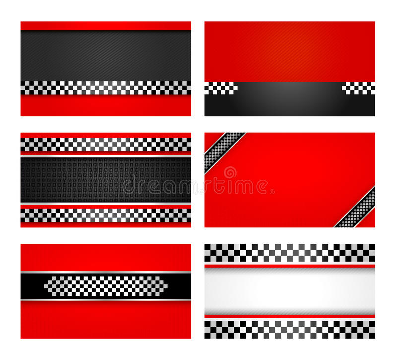 Business Card Set - Rally Driver Templates Royalty Free Stock Images