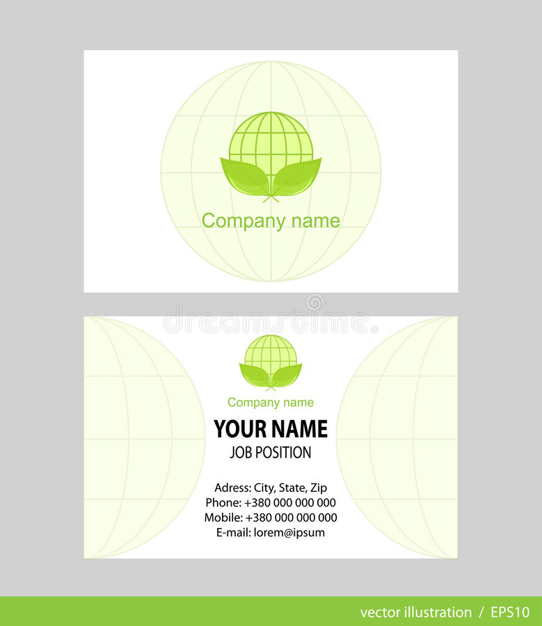 Business Card Set. royalty free stock photos