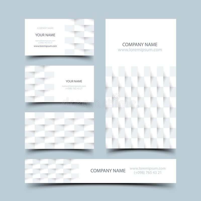 Business card set stock illustration