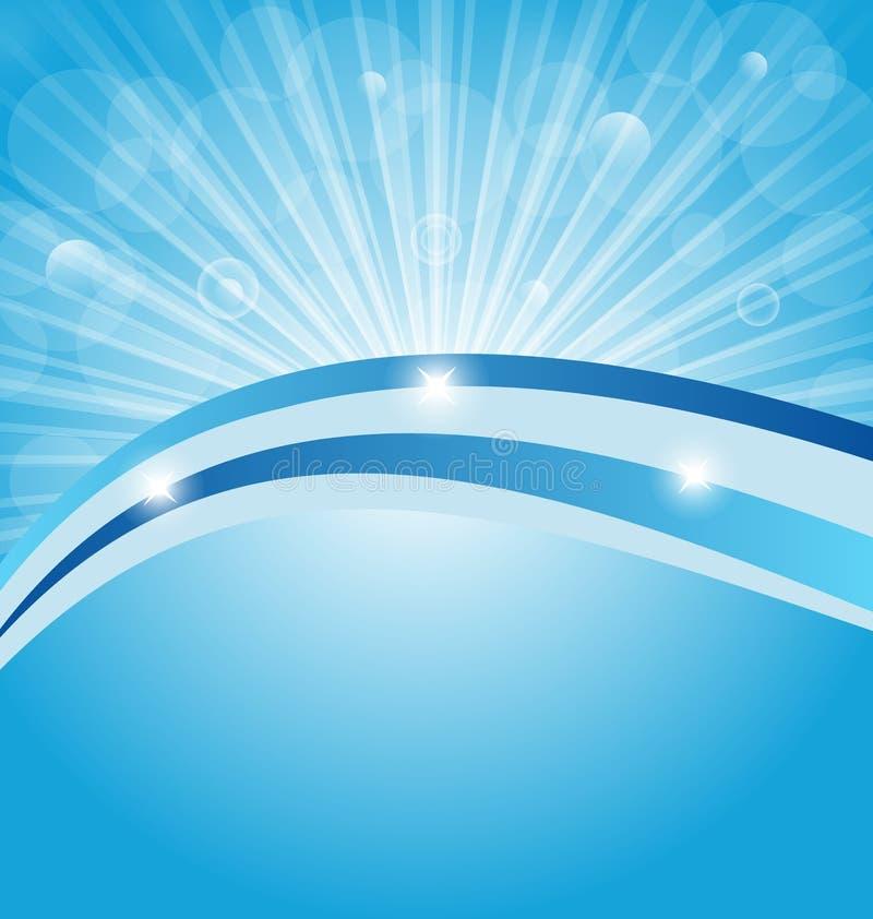Business card show light rays stock illustration